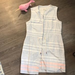 Vineyard Vines summer button up drawstring dress